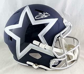 Emmitt Smith Signed Helmet - F S AMP Speed PROVA Auth *White - Autographed NFL Helmets