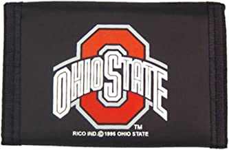 (Ohio State Buckeyes, Adult, Nylon, OS, Team color) - Ohio State Buckeyes Official NCAA One Size Nylon Trifold Wallet by Rico Industries