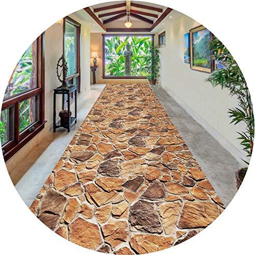 Barture Teppich Läufer Flur Teppich Stein Bodenmatte Türöffnung Korridor Treppen Lange Teppich Kann Geschnitten Werden 6mm Dick (Color : A, Size : 0.8x3m)