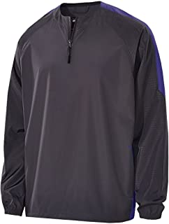 Adult Polyester Bionic 1/4 Zip Pullover-Carbon/DK Green