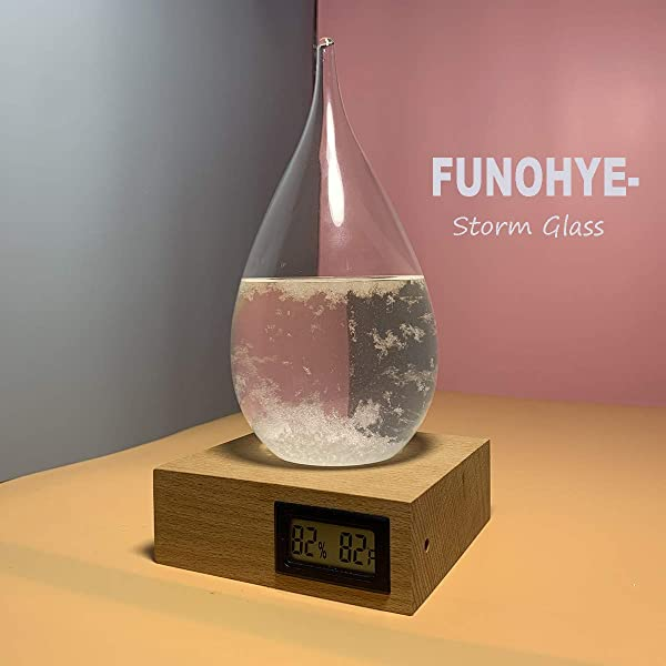 FUNOHYE Storm Glass Weather Stations Water Drop Weather Predictor Creative Forecast Bottle Nordic Style Decorative Weather Glass Decorative Centerpiece For Home Office X Large