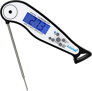 Digital Instant Read Meat Thermometer Waterproof Cooking Food Thermometer with 4.6 Inch Folding Probe Calibration for Cand...