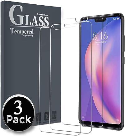 Ferilinso Cristal Templado para Xiaomi Mi 8 Lite, [3 Pack] Protector de Pantalla Screen Protector con garantía de reemplazo de por Vida para Xiaomi Mi 8 Lite