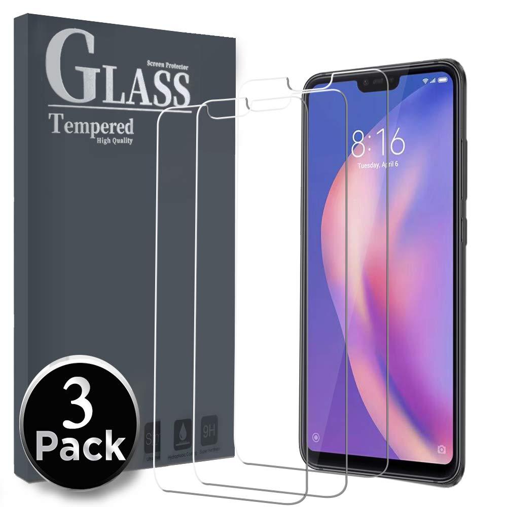 Ferilinso Cristal Templado para Xiaomi Mi 8 Lite, [3 Pack ...