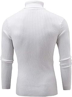 81b51748d46b BaZhaHei-Jersey Suéter Hombres de Invierno Delgado cálido Punto Alto Cuello  Jersey Blusa Cuello Alto