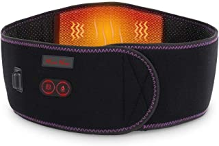 Heating Waist Belt with 3 Level Temperature Settings, Portable Heated Lower Back Massager w/ 7.4V Rechargeable Battery, Heat Therapy and Massage for Pain Relief, Lumbar Spine Arthritis,for Men Women