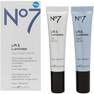 Best BOOTS Boots No7 Lift & Luminate Day & Night Serum, 0.5 oz Review