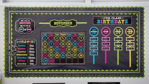 Teacher Created Resources Chalkboard Brights Our Class Birthdays Mini Bulletin Board (5506) Photo #4