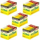 Kodak 400 TMAX Professional ISO 400, 36 mm, 36 Aufnahmen, Schwarz-Weiß-Film (5 Stück)