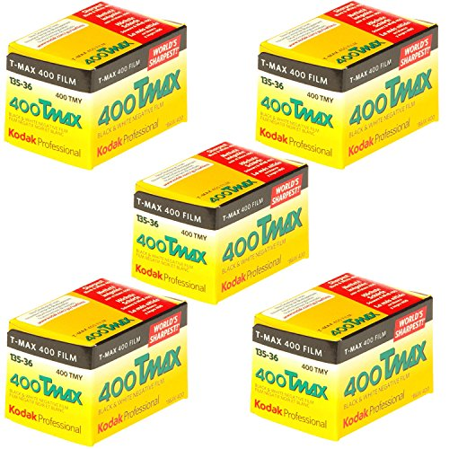 Kodak 400 TMAX Professional ISO 400, 36mm, 36 Exposures, Black and White Film (Pack of 5)
