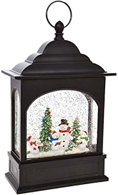 RAZ Imports Snowman Caroler Lighted Water Lantern 11 Inch Lighted Christmas Snow Globe with Swirling Glitter