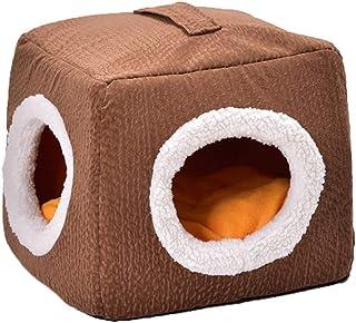 Panjianlin Cama del Animal doméstico Universal Pet Nest Kennel Cat Litter Cómoda y cálida casa de Perro Espacio Acogedor y...