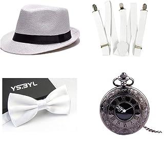 5 Diadema Conjunto de Disfraces para Mujer de 20 a/ños Carnaval Guantes Porta Cigarrillos thematys Gangster Mafiosa Set Collar