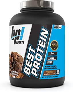 BPI Sports Best Protein, 100% Whey Blend, Muscle Growth, Recovery, Meal Replacement, No Maltodextrin, No Fillers, Gluten F...