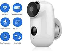 Wireless Security Camera HD 1080P Abowone Rechargeable Battery Powered Camera WIFI IP Camera Wire-Free Waterproof Indoor/Outdoor Security Camera Two Way Audio PIR Sensor/Body Detection HD Night Vision