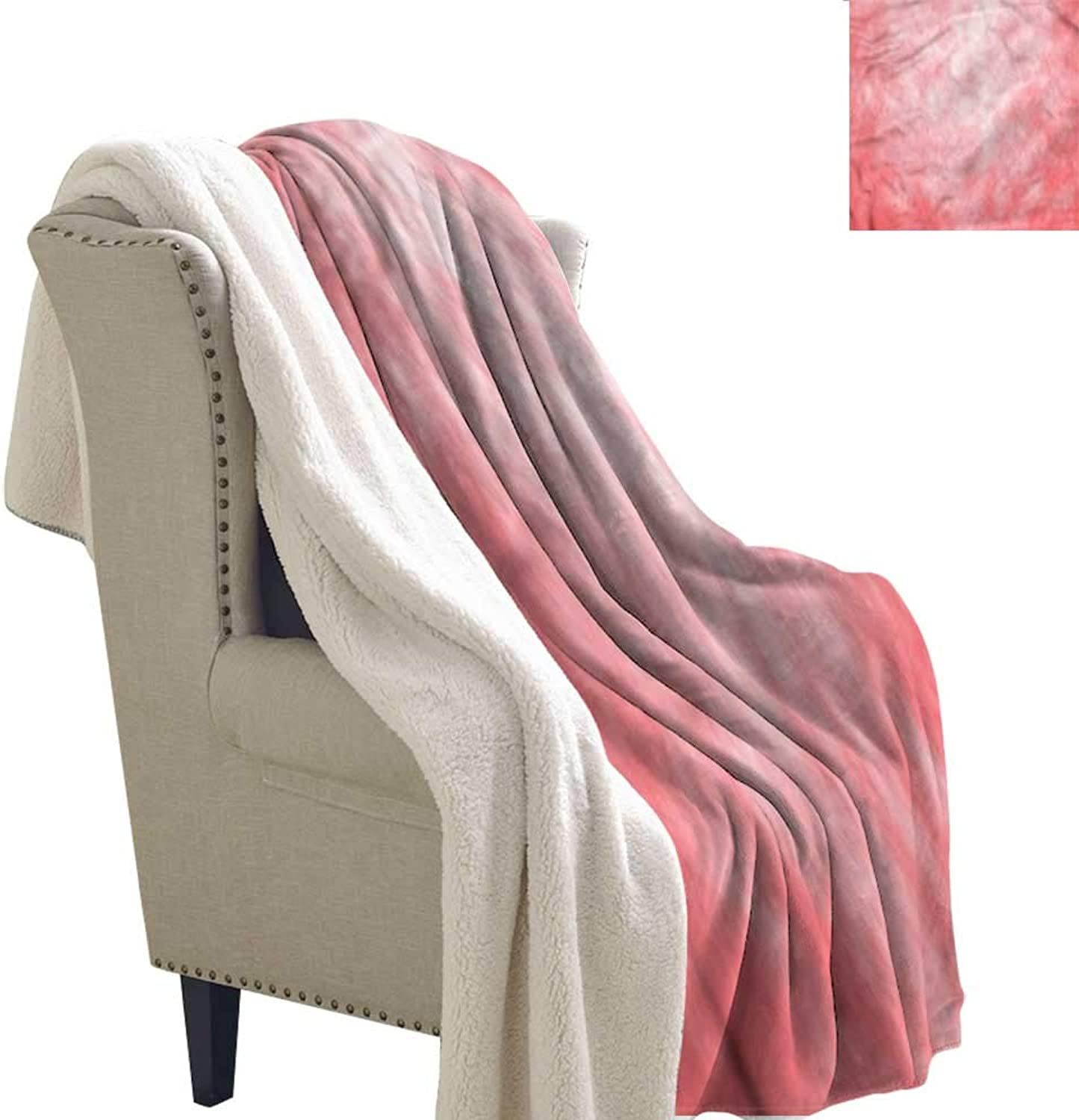 AndyTours Winter Quilt Coral Pale Spring Watercolor Autumn and Winter Thick Blanket W59 x L31