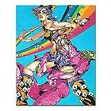 Jojo'S Bizarre Adventure Anime Poster Lienzo para pared de baño, 1 pieza, impresión en lienzo, decoración moderna de cocina, oficina, hogar, decoración de 50,8 x 76,2 cm