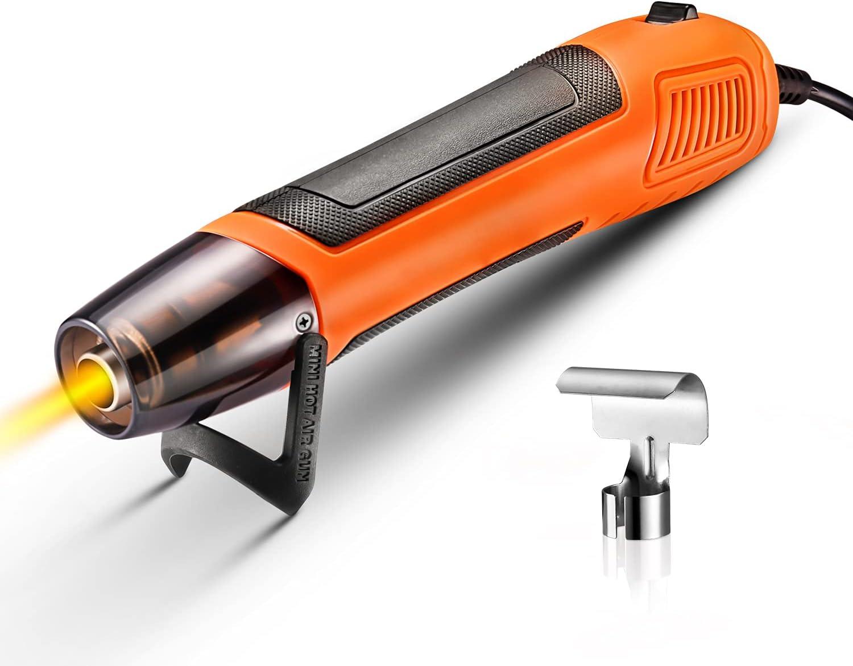 Decapador térmico, mini pistola de aire caliente 350 W 350 °C, cable ultra largo de 2 m para troquelado artesanal, embalaje retráctil, secado de pintura, bricolaje