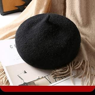 JERPOZ Ladies Hat Autumn and Winter Wool Blend Hat, Wild Pumpkin Hat, Retro Warm Hat, British Painter Hat, Wool Knit Hat, Gift BB Clip (Color : E)