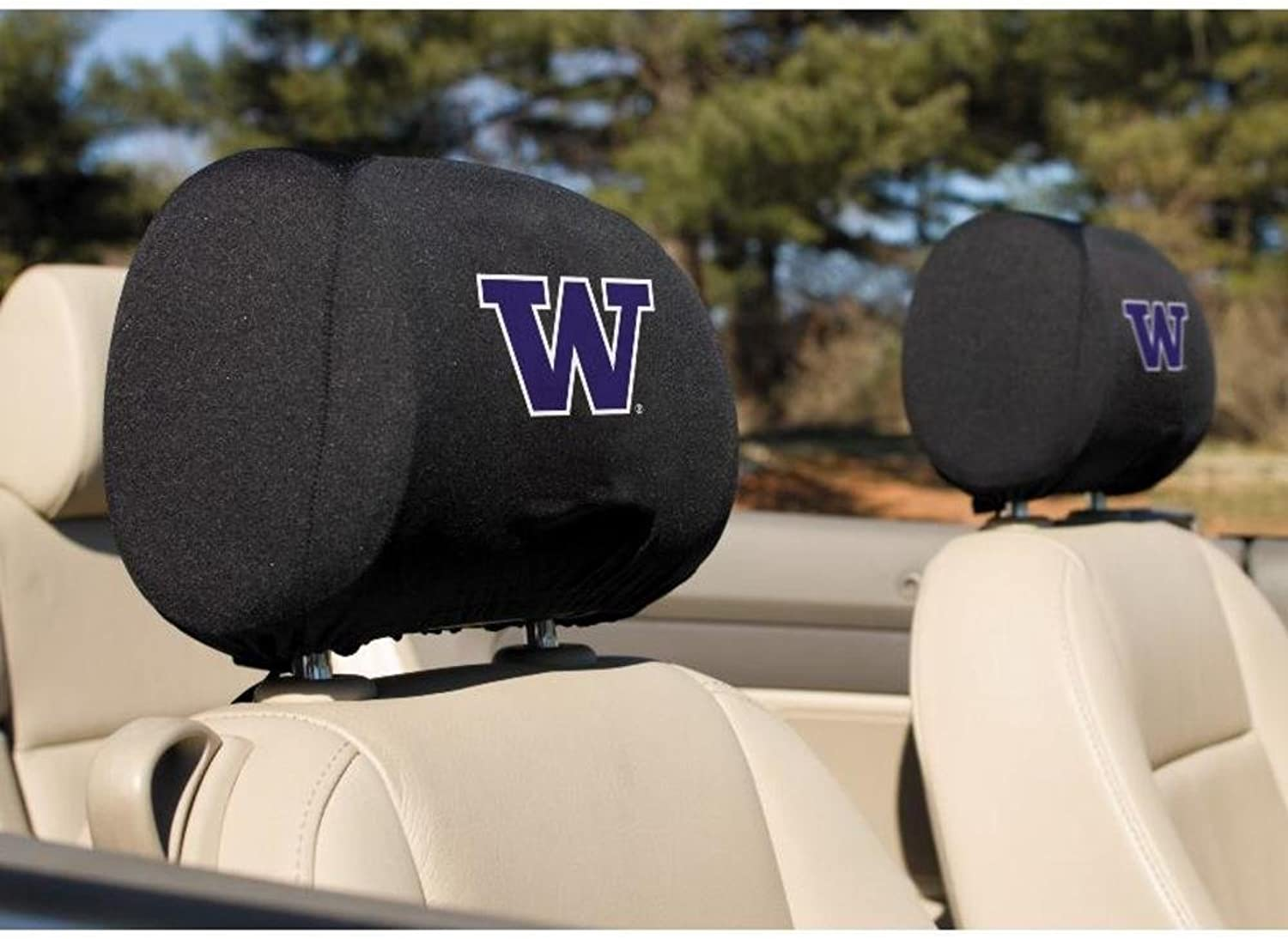 Bsi Products Collegiate Washington Headrest Covers  Set Of