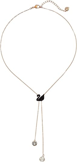 Swarovski - Double Y Iconic Swan Necklace