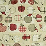 Dekostoff Äpfel rot beige Canvas - Preis gilt für 0,5
