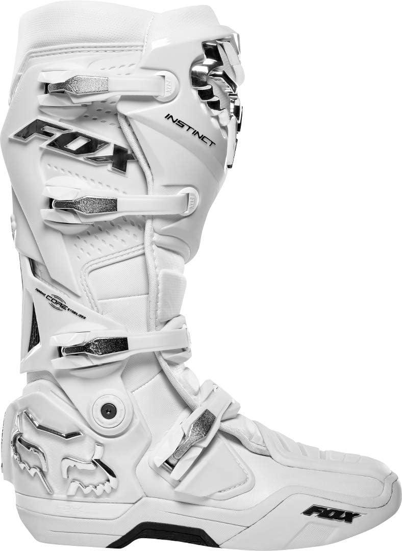 Fox Racing Instinct Boot White//Silver 12
