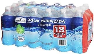 AGUA NATURAL PURIFICADA EMBOTELLADA MEMBERS MARK PAQUETE DE 18 BOTELLAS DE 1 LT C/U OFICINA CASA NEGOCIO HIDRATACION