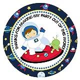 Adorebynat Party Decorations - EU astronauta espacio gracias pegatinas para los niños - fiesta de cumpleaños de la etiqueta engomada - Set 30