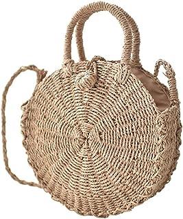 Amazon.es: bolso redondo mimbre