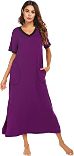 Loungewear Long Nightgown Women's Ultra-Soft Nightshirt...