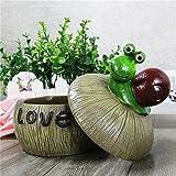 Monsiter Aschenbecher für Zigarette Creative Snail Aschenbecher mit Deckel Home Decoration - 3