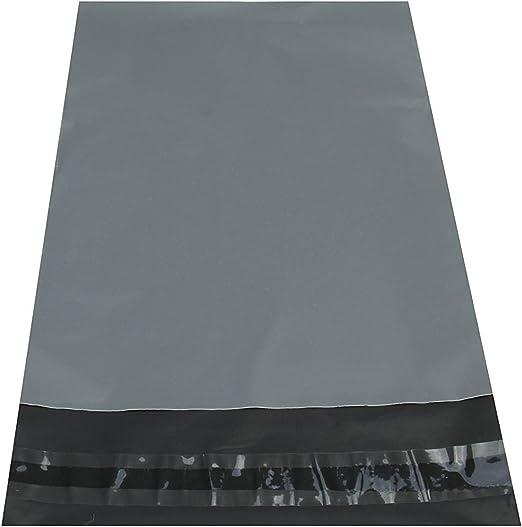 100 buste postali grandi e resistenti 43,2 x 61 cm colore grigio