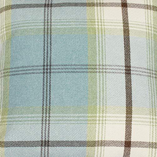 Balmoral Duckegg - Tela para tapicería y cortina, diseño de cuadros escoceses gruesos, efecto lana, Sample