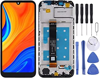 Lingland cell phone kit LCD Screen and Digitizer Full Assembly with Frame for Huawei Y5 (2019) / Y6s (2019)(Black) Screen ...