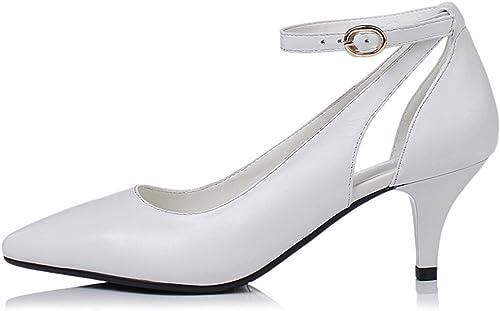 ZPFME Femmes Classique Stiletto Talons Hauts Printemps Lady Cuir Smart Pointu Toe chaussures Party Pompes De Mariage