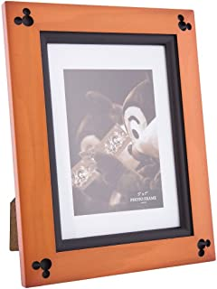 Disney Parks Exclusive Mickey Mouse Beveled Cherry Wood 5 x 7 Photo Picture Frame