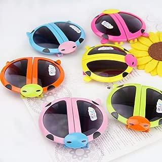 UNAKIM--Novelty Baby Kids Boys Girls Foldable Cute ladybug UV400 Sunglasses Goggles Gift