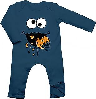 Shirt Happenz Kostüm Krümelmonster Babybody Verkleidung Karneval Fasching Langarm Langärmliger Strampler