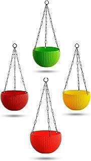 VGreen Garden Smart Decor Chain Hanging Planter Set of 4 Pcs