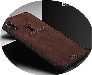 S7 Edge Phone Case Super Soft Plush Fluffy Cloth Soft TPU Edge Mobile Phone Shell,Brown,S7 Edge