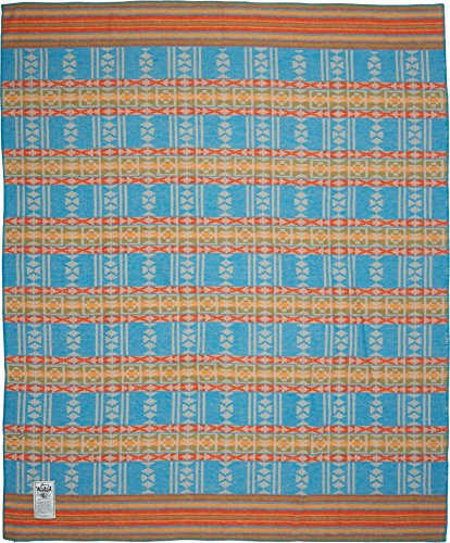Woolrich Home Horizon View Dobby Blanket, Lagoon Multicolor