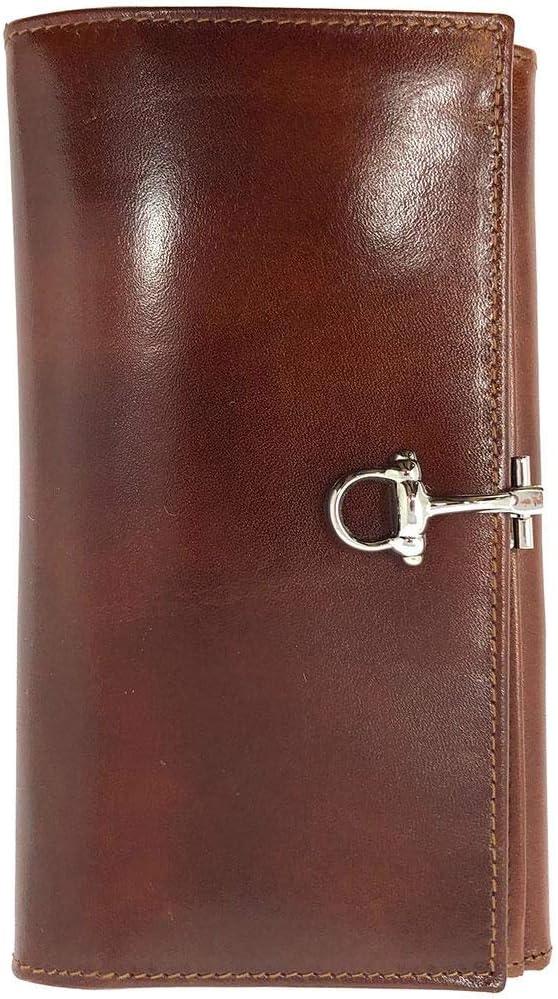 Floto Venezia Checkbook Clutch Wallet in Vecchio Brown