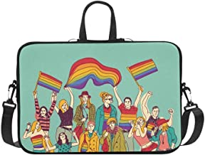 Laptop Bag Happy Gay Meeting People Group Shoulder Bag Crossbody Bag Double Zipper for Men Women Business Personnel Girl Business Travelling Commercial Affairs College