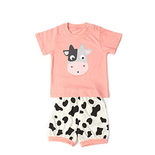 ad272be6cbf69c Baby Clothes Sets Infant Outifts Toddler Short Sleeve Shirt + Pants with  Animals Dows + Dinasaur
