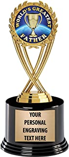 Crown Awards Fathers Day Trophies with Custom Engraving, 7.25