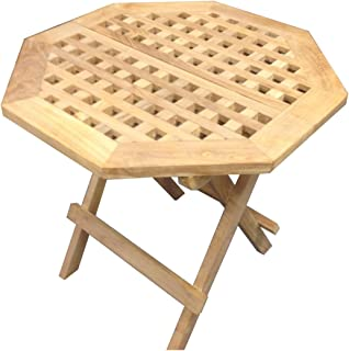 Offex Outdoor Patio Lightweight Teakwood Octagonal Picnic Table
