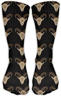 DaCrew Goat Head Repeat Unisex Novelty Crew Socks Ankle Dress Socks Fits Shoe Size 6-10
