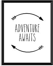 Serif Design Studios Adventure Awaits - Circular Arrows - Unframed Art Print Poster or Greeting Card 11x14 Art Print