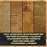 antique brown vintage newspaper print craft paper for scrapbook & collage art 20 old newsprint...
